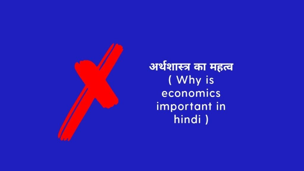 Why economics is important in Hindi