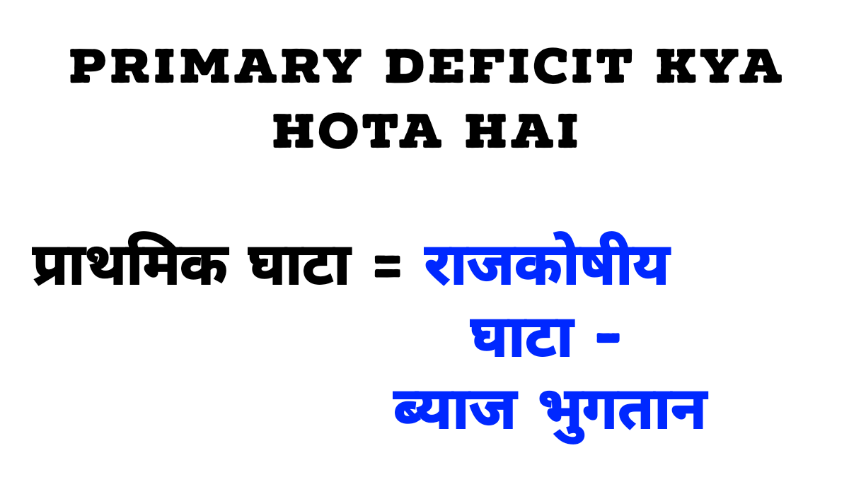 What is primary deficit in Hindi