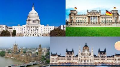 List of parliament names of all country in Hindi